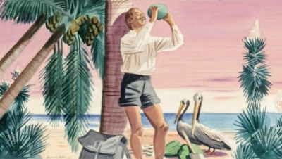 Barefoot Mailman and Pelicans