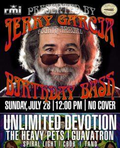 Guanabanas to Host 4th Annual Jerry Garcia Birthday Bash Sunday, July 28, Jupiter, South Florida