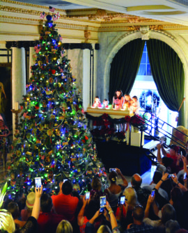 Christmas Tree Lighting at Flagler Museum, Palm Beach, South Florida 12/1/19