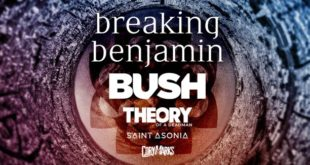 Breaking Benjamin at iTHINK Financial Amphitheatre (formerly Coral Sky), West Palm Beach (WPB), South Florida 8/21/2020. Buy Tickets HERE on WestPalmBeach.com