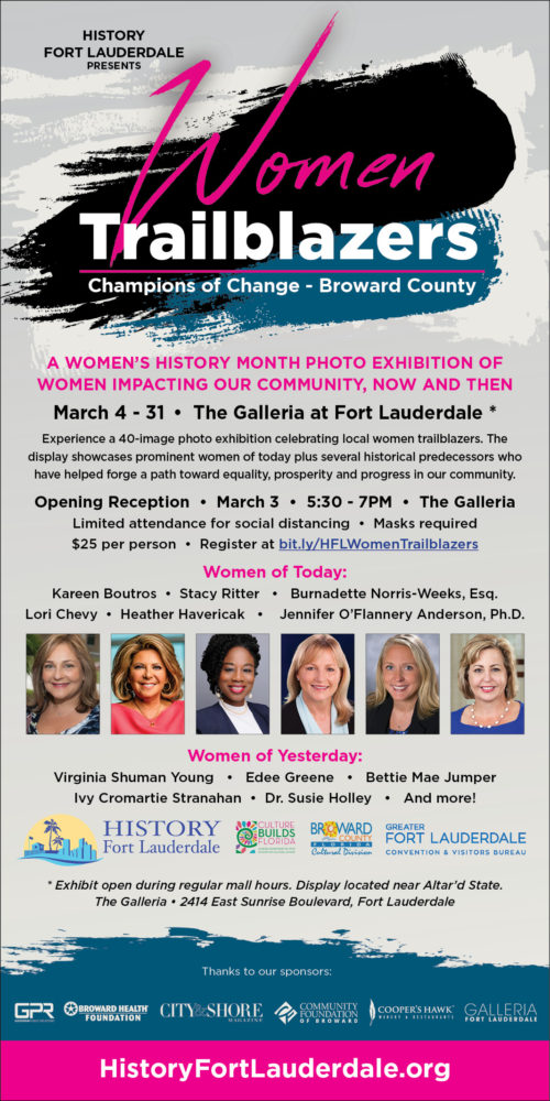 Women Trailblazers: Champions of Change, The Galleria of Ft Lauderdale, South Florida