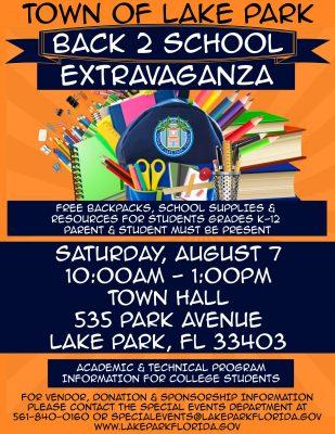 Back 2 School Extravaganza, Lake Park